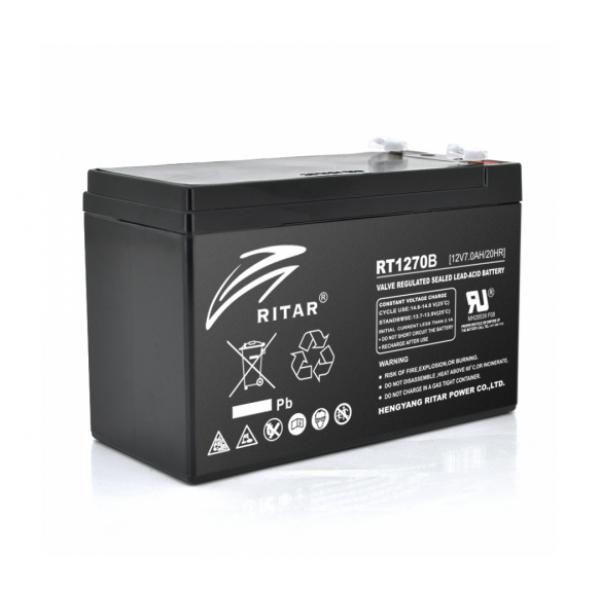 Аккумуляторная батарея AGM RITAR RT1270B, Black Case, 12V 7.0Ah ( 151 х 65 х 94 (100)