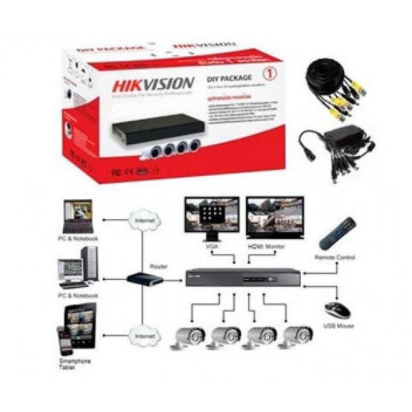 Комплект TurboHD видеонаблюдения Hikvision DS-J142I/7104HGHI-SH