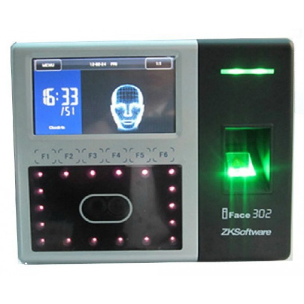 Мультифакторный биометрический терминал контроля доступа и учета рабочего  времени ZKSOFTWARE iFace302