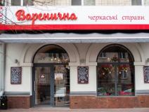 На фото вход в кафе Вареничная, где установлены видеокамеры наблюдения и охранно-пожарная сигнализация